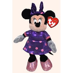 Pelúcia Bean Bag 20cm Sparkle Purple Minnie Disney