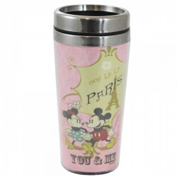 10021955 Copo Térmico com Tampa Paris 450ml Mickey e Minnie Disney