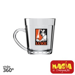 Caneca de Vidro Americano Luke Skywalker Star Wars Disney