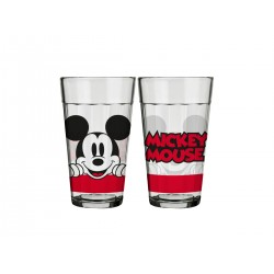 Copo de Vidro Americano Mickey and Friends 450mL Face