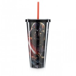 Copo com Canudo Darth Vader Star Wars 650mL