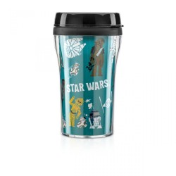 Copo com Tampa Cartoon Star Wars 200mL