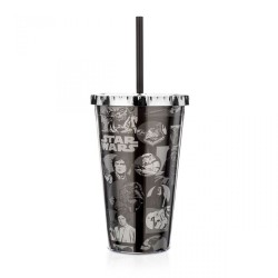 Copo com Canudo Comics PB Star Wars 450mL