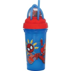 Copo Infantil com Canudo Loop Carros Disney 340ml