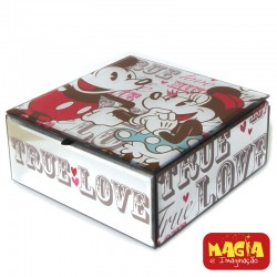 Porta Joias Espelhado Mickey e Minnie True Love