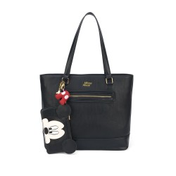 Bolsa Shopper Carteira Mickey Preto