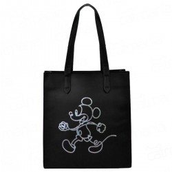 Bolsa Tote Keep Walking Mickey Preto