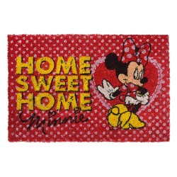 Tapete Capacho Minnie Vermelha Home Sweet Home