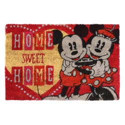 Tapete Capacho Mickey e Minnie Home Sweet Home Disney