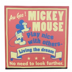 Quadro Red Mickey Vintage Living the Dream Disney