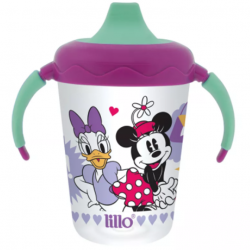 Caneca Antivazamento Minnie e Margarida 207ml