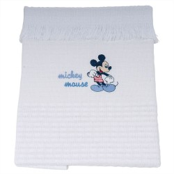Manta Bordada Classic com Franja Mickey - Disney