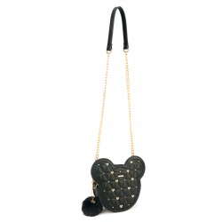 Bolsa Tiracolo Tacks Mickey Head - Preto