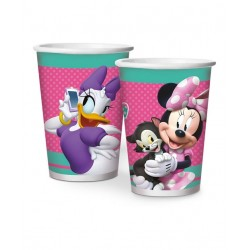 Copo Papel Minnie Rosa 180ml - 08 unidades
