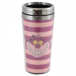 Copo Térmico com Tampa 450ml Cheshire Alice in Wonderland Disney