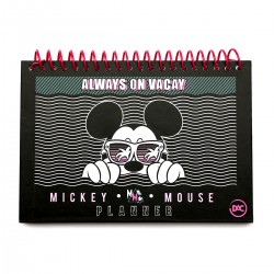 Planner Mickey Mouse Always on Vacay A5 96 Folhas Permanente Disney