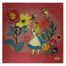 Quadro Garden Alice in Wonderland 20X20cm
