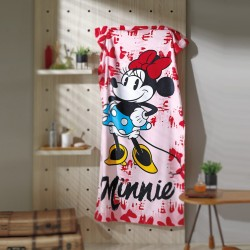Toalha Velour Minnie Mouse Bows Disney 76cm x 152cm