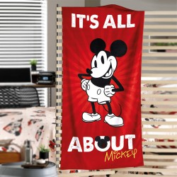 Toalha Velour Mickey Mouse It's All About Disney 76cm x 152cm