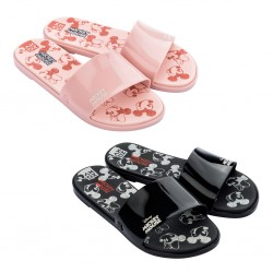 Chinelo Mickey e Minnie Mouse Adulto Sketch Slide Zaxy