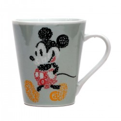 Caneca Mickey Mouse Letras Porcelana 290 ml