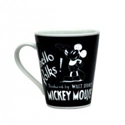 Caneca Mickey Mouse Hello Folks Porcelana 290 ml