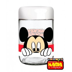 Pote de Vidro Decorado Disney Amigos 598ml Mickey