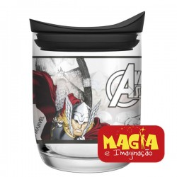 Pote de Vidro OPA Decorado Disney Marvel Thor