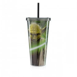 Copo com Canudo Yoda Star Wars 650mL