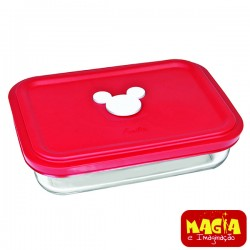 Marinex de Vidro Facilita Mickey Disney 750ml Tampa Vermelha