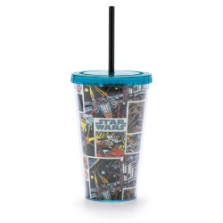 Copo com Canudo Comics Colors Star Wars 450mL