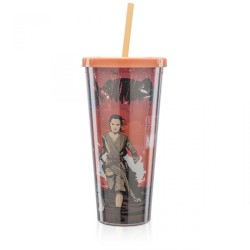 Copo com Canudo Rey Star Wars 650mL