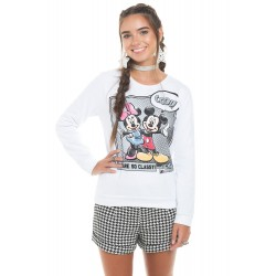 Blusão Manga Longa Mickey e Minnie Cool