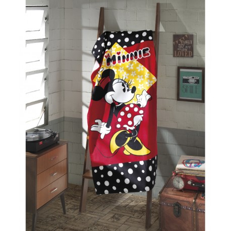 Toalha Velour Minnie Mouse Disney 76cm x 152cm