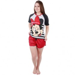Pijama Adulto Stripes Minnie
