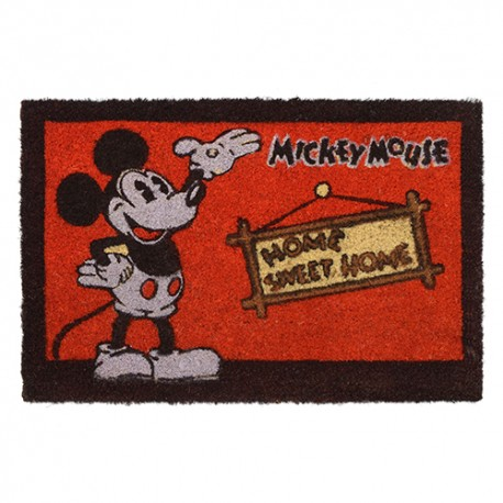 Tapete Capacho Mickey Retro Home Sweet Home Disney