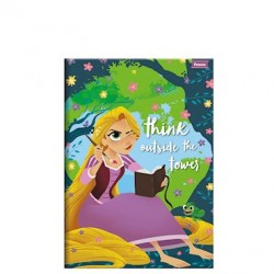 Caderno Brochura Pequeno Enrolados Disney - Think outside the Tower 96 folhas