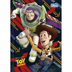 Caderno Brochura Capa Dura Top 1/4 Toy Story Woody e Buzz Lightyear 96 Folhas