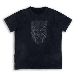 Camiseta Máscara Pantera Negra Black Panther Marvel