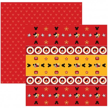 SDFD014/KIT FLS.P/ SCRAP DF MICKEY MOUSE 1 FORMINHAS E TOPPERS C/12 UN