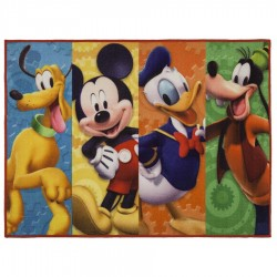 Tapete infantil 110x80cm Disney – Turma do Mickey