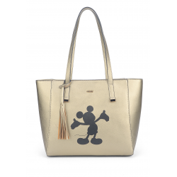Bolsa Shopper Mickey Black Gold