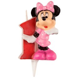 Vela 3D Minnie Mouse 1 Ano