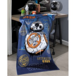 Toalha Velour BB8 Star Wars 130cm x 70cm