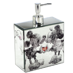 Dispenser Espelhado Sketch Mickey e Minnie Disney