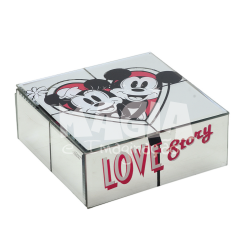 Porta Joias Espelhado Love Story Mickey e Minnie Disney