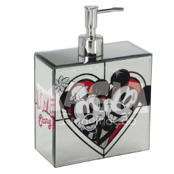 Dispenser Espelhado Love Story Mickey e Minnie Disney