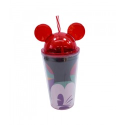 Copo com Canudo Orelhas Mickey 450ml - 90th Years Limited Edition