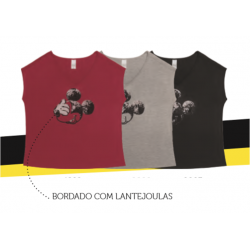 Blusa com Mangas Lantejoulas Mickey Oh Gosh - 90th Years Limited Edition - Coleção Plus Size