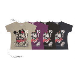 Blusa com Mangas Mickey e Minnie - 90th Years Limited Edition